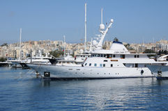 Malta, la bahía pintoresca de La Valeta Fotos de archivo libres de regalías