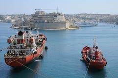 Malta, la baia pittoresca di La Valletta Fotografia Stock Libera da Diritti