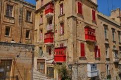 Malta, la città pittoresca di La Valletta Fotografia Stock Libera da Diritti