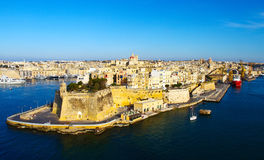 Malta La Valletta historic port Royalty Free Stock Images