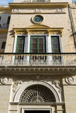 Malta La Valletta historical center. Intricately carved details Royalty Free Stock Photography