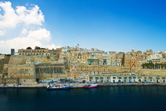 Malta, La valletta. A view of La Valletta old town coastline, Malta Stock Photos