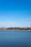 Malta lake. View of Malta lake with trees in the background in Poznan, Poland Royalty Free Stock Images