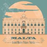 Malta landmarks. Retro styled image Stock Photos
