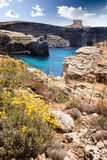 Malta Landscape. Comino island landscape with Mary's Tower Royalty Free Stock Images