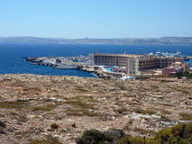 Malta landscape - cirkewwa ferry terminal. Cirkewwa ferry terminal in the north of Malta island, Europe. Ferries go to Gozo island Royalty Free Stock Photography