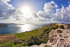 Malta. Landscape on Malta island with the sea and a nice sky Royalty Free Stock Photography