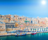 Malta, los angeles Valletta Fotografia Stock