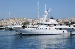 Malta malownicza zatoka Valletta Zdjęcia Royalty Free