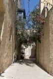 Malta maltese serenity, old narrow street. Malta quiet old narrow street in the central part of the Mediterranean island Stock Image