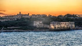 Malta: Manoel Island and Marsans Harbour. At sunset Stock Images