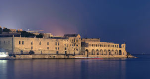 Malta - Manoel Island at night Stock Images