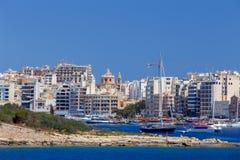 Malta. Manoel Island. View of the island Manoel from the forts Valletta. Malta Royalty Free Stock Photo