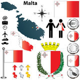 Malta map Stock Photos