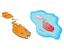Malta mapy Zdjęcie Royalty Free