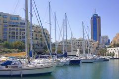 malta marina Arkivbild