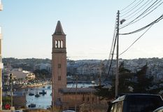 Malta Marsaskala, St Anna Church royaltyfri bild