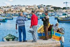 Malta - Marsaxlockk Arkivbilder