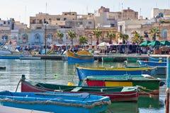 Malta - Marsaxlockk Royaltyfria Foton