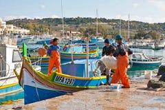Malta - Marsaxlockk Arkivfoton