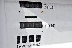 Malta - Marsaxlockk. Detail of a carburant station Stock Image