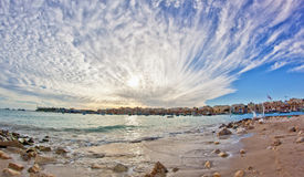 Malta - Marsaxlockk. Landscape with the sea and a nice sky Stock Photo