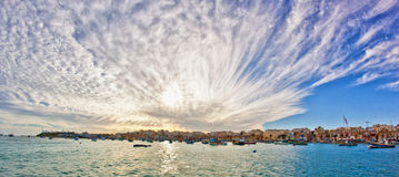 Malta - Marsaxlockk. Landscape with the sea and a nice sky Stock Image