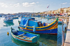 Malta - Marsaxlockk. Street view from Marsaxlockk, small port in Malta Royalty Free Stock Images