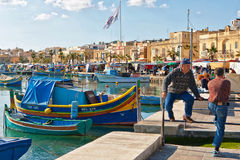 Malta - Marsaxlockk. Street view from Marsaxlockk, small port in Malta Stock Photography