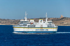 Malta - May 8, 2017: Ferry transports from Gozo Island to Malta. Royalty Free Stock Image