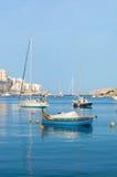 Malta - May 7, 2017: Malta boats. Traditional Maltase colorfull fishing boats Royalty Free Stock Image