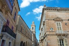 Malta, Mdina: Beautiful, Baroque Medieval architecture. Beautiful, Baroque Medieval architecture in Mdina, Malta. Mdina is one of the most visited destination at Stock Image