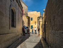 Malta. Mdina. City streets. Streets of the ancient city of Mdina. Island of Malta Royalty Free Stock Image