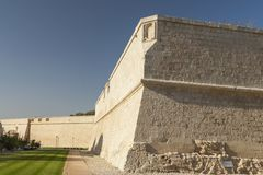 Malta, Mdina, City Walls. Seen from the moat or ditch Stock Photography