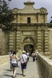 Malta,Mdina Gate. The gateway to the silent city. Stock Image