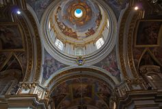 Malta, Mdina: Luxury interior of Cathedral of St. Paul stock images