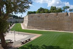 Malta, Mdina: Part of Medieval fortification walls Royalty Free Stock Photo