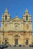 The medieval citadel of Mdina. Cathedral of St Paul in the walled Silent City, government and administrative centre during the medieval period - Mdina, Malta Stock Photography