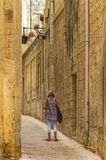 The medieval citadel of Mdina. Narrow street in the Silent City, government and administrative centre during the medieval period, Mdina, Malta Stock Image