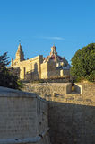 The medieval citadel of Mdina. View of the walled Silent City, government and administrative centre during the medieval period - Mdina, Malta Stock Photo