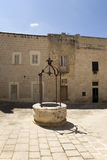 stone fountain in Mdina on Malta Stock Image