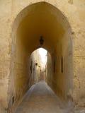 malta medeltida gata fotografering för bildbyråer