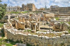 Malta, the megalithic temples of Tarxien Royalty Free Stock Photos