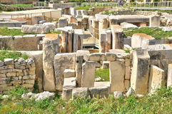 Malta, the megalithic temples of Tarxien Royalty Free Stock Image