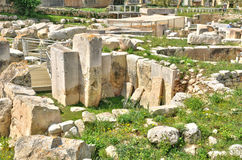 Malta, the megalithic temples of Tarxien Stock Image