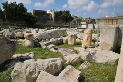 Malta, the megalithic temples of Tarxien Stock Images