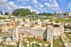 Malta, the megalithic temples of Tarxien Royalty Free Stock Photo