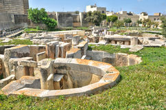 Malta, the megalithic temples of Tarxien. Republic of Malta, the megalithic temples of Tarxien Royalty Free Stock Photo