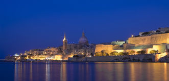 Malta, Meningen van Valletta Stock Foto's
