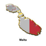 Malta metal pin badge Royalty Free Stock Images